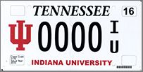 Indiana University Specialty Plate