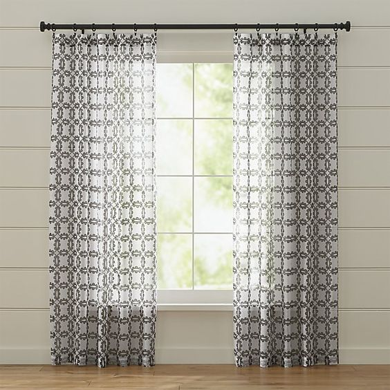 Molly White and Grey Curtains | Crate and Barrel | Smith Ranch ...