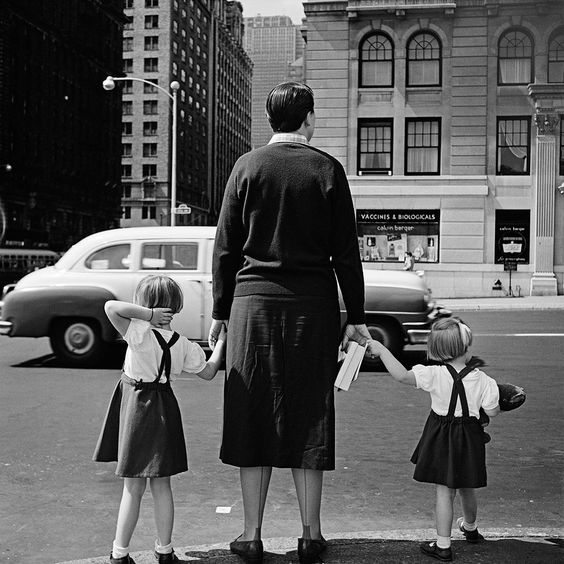 Vivian Maier - 1954, NYC:  this could have been my sister and me visiting NYC with our mother.: