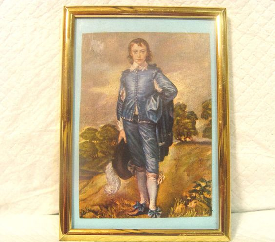 BLUE BOY PRINT -IN WALL/TABLE FRAME