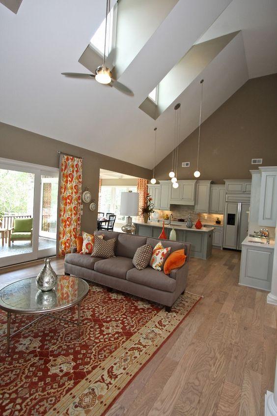 Living Room Vaulted Ceiling Lighting Ideas Skylights Pendant Lamps Lighting Pinterest