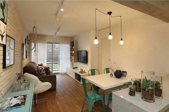 """""""Cozinha, jantar e estar foram integrados para dar fluidez a esse apartamento projeto pelo @casa2arquitetos. Simplesmente lindo!  #decoraçãopravocê…"""""""