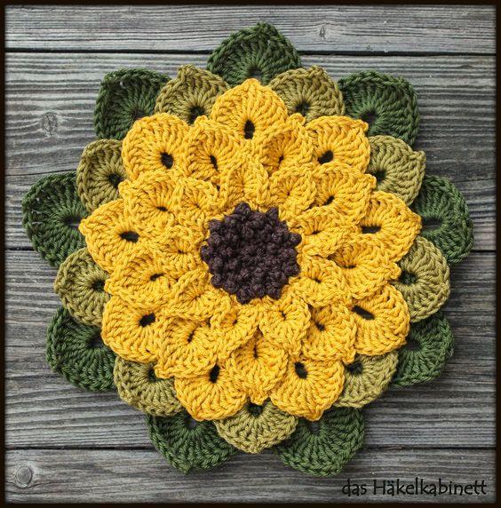 Gehäkelte Sonnenblume - crochet sunflower