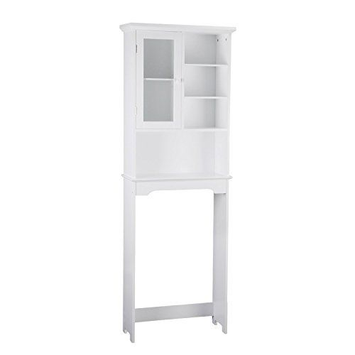 asense 69 high white bathroom over toilet storage shelves cabinet simple living this pretty and fashion bathroom space saving cabinet fit over t - Bathroom Cabinets That Fit Over The Toilet