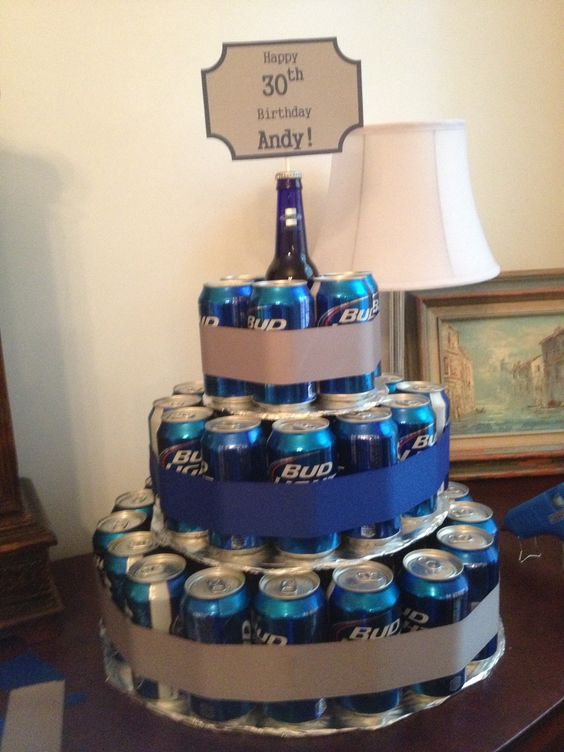 Beer can birthday cake | I did this! | Pinterest | Bottle ...