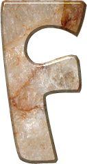 Alfabeto Decorativo: Alfabeto - Pedra Mármore - PNG