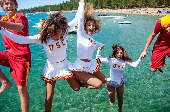 USC Song Girls, Lake Tahoe, 2014