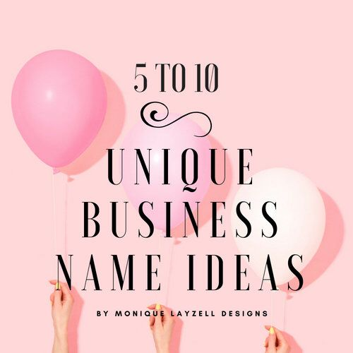Custom Business Or Etsy Name Ideas