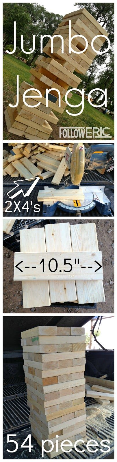 Jumbo Jenga - would be fun at a Fourth of July party: