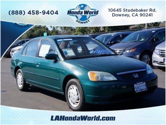 Sedan 2002 Honda Civic Lx With 4 Door In Downey Ca 90241 Civic Lx Honda Civic Honda
