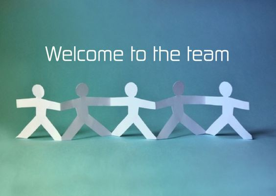 welcome To The team Card Great Acknowledge New Team