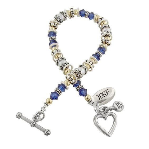 jdrf diabetes awareness bracelet swarovski crystals and