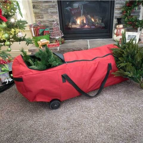 Santa S Bags Ez Rolling Artificial Christmas Tree Storage Bag Christmas Tree Storage Christmas Storage
