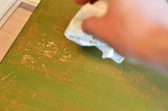 Painting with Glue by Fresh Nest, via Flickr