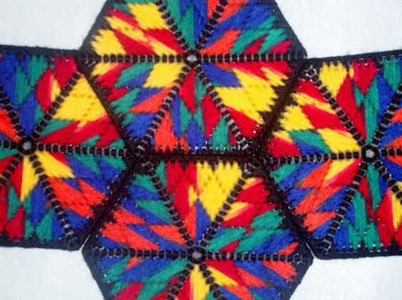 Crayons Hexagon Coasters by MastersCreations on Etsy, $15.00