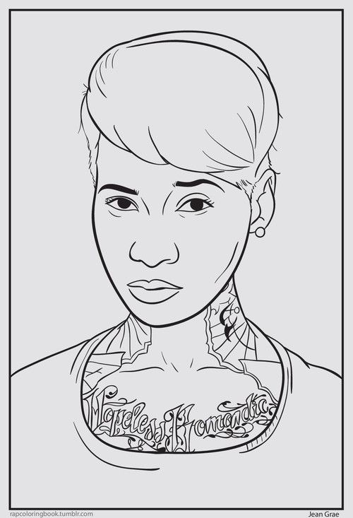 Hip Hop Coloring Book For Grown Ups Yassss