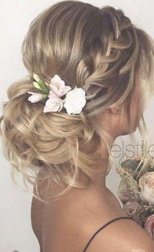 55 Trendy Wedding Hairstyles Updo Loose Bridesmaid Brautjungfer Haare Hochzeitsfrisuren Frisuren