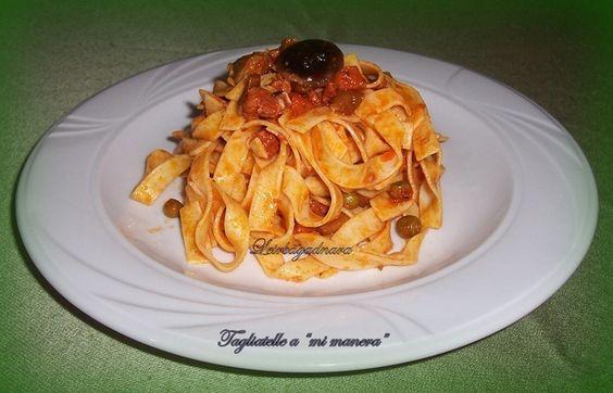 Tagliattelis Camperos. Ver receta: http://www.mis-recetas.org/recetas/show/43099-tagliattelis-camperos