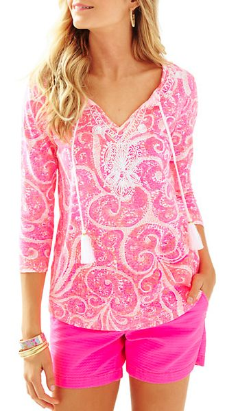 pretty pink drawstring top - Lilly Pulitzer