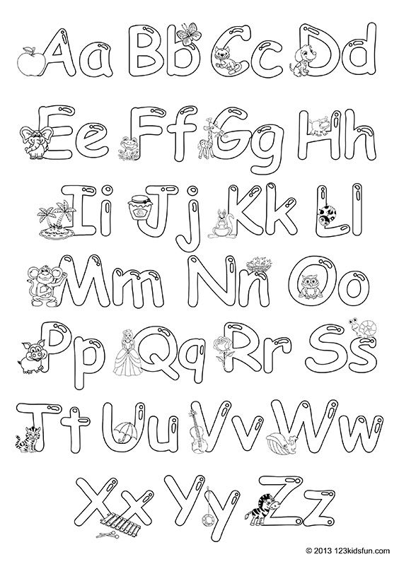 Colour In Alphabet 123 Kids Fun Apps Free Preschool Printables Alphabet Free Printable Alphabet Worksheets Printable Alphabet Worksheets