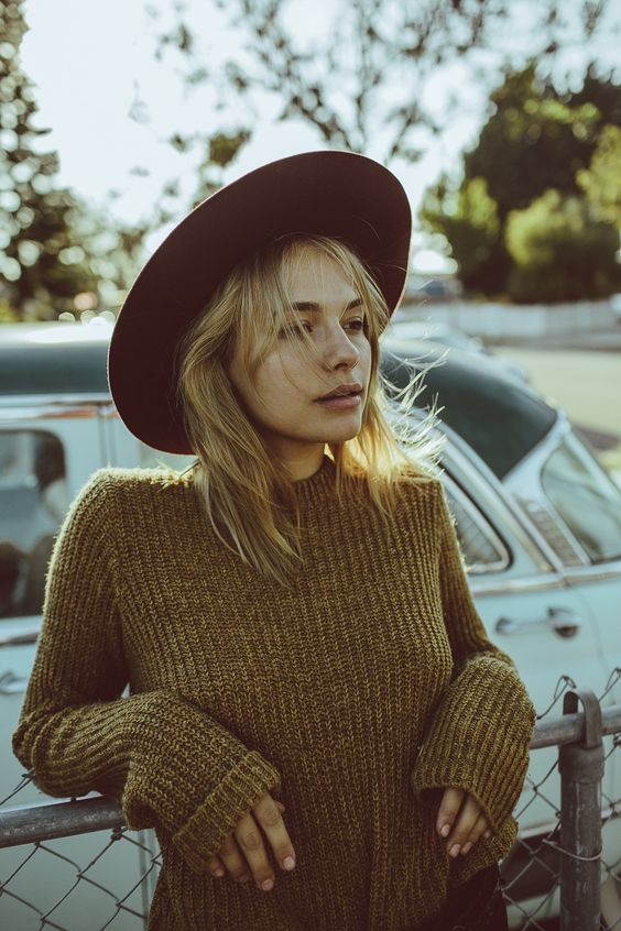 #Brixton Friday Feature | Emma in the 'Emmon' #Sweater and 'Magdalena' #Hat