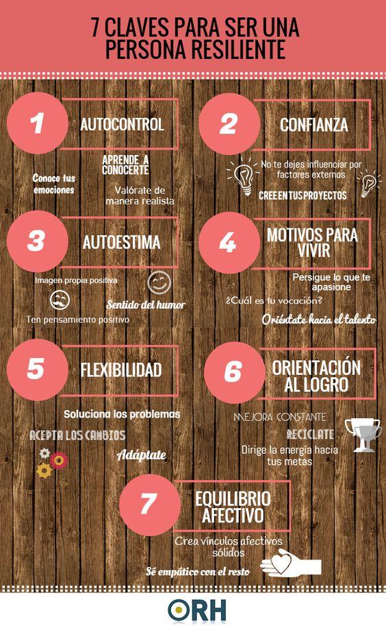 7 claves para ser una persona resiliente #infografia #infographic #psychology