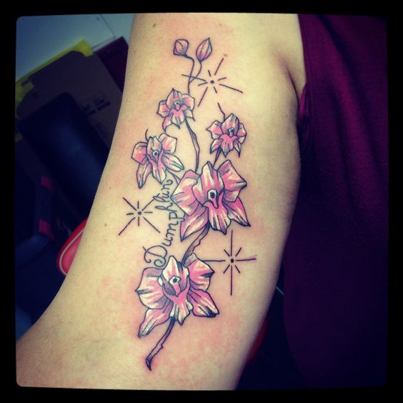 Tatouage orchidée • by merries melody • tattooshop66