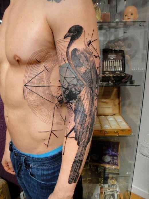Bird tattoo on arm