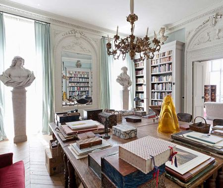 Spectacular Home Office in Paris   via Christie's International Real Estate   House & Home