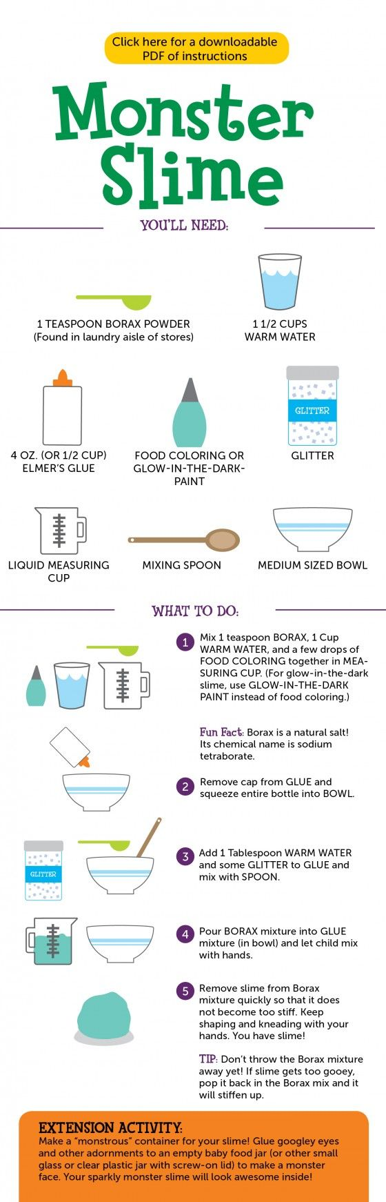 Make monster slime not sure how feasible it is for a group but make monster slime not sure how feasible it is for a group but very fun diy pinterest slime monsters and group ccuart Images