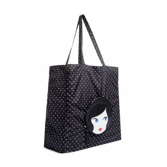Lulu Doll Face Foldaway Shopper