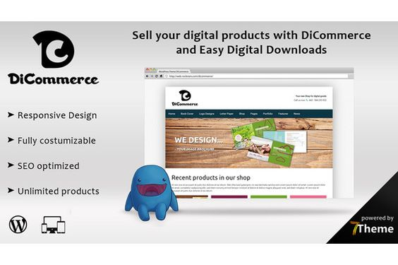 DiCommerce - Easy digital downloads by 7Theme on Creative Market