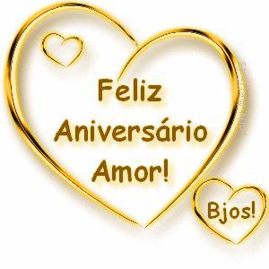 Feliz Aniversário De Amor Dourado