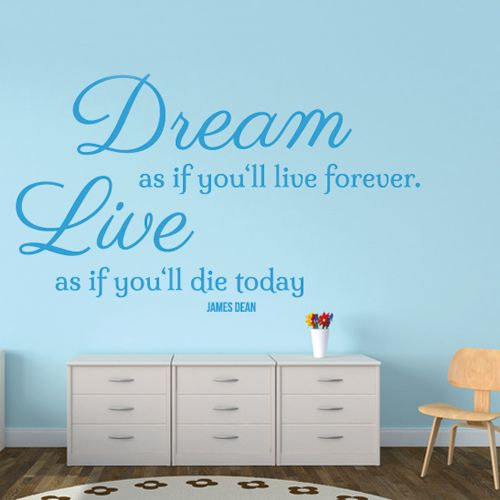 Wandtattoo  -  Dream and Live