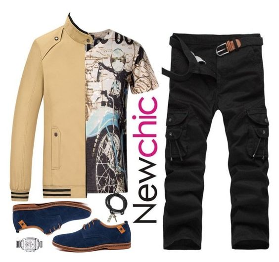 """""""Newchic~men's wear"""" by gabygirafe ❤ liked on Polyvore"""