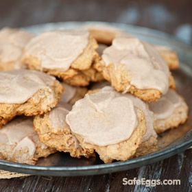 Sweet Potato Cookies with Browned Butter Glaze - a delight for any cookie lover!