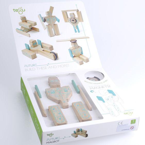 Tegu Future Magbot magnetische houten blokken - Tegu is een bouwsysteem met magnetische, houten blokken.  Het bedrijf draagt duurzaamheid en sociale rechtvaardigheid hoog in het vaandel.