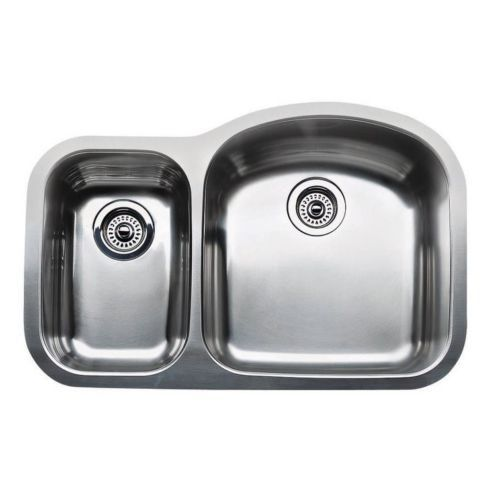 Blanco 440166 Wave Plus Undermount Double Bowl Kitchen Sink In