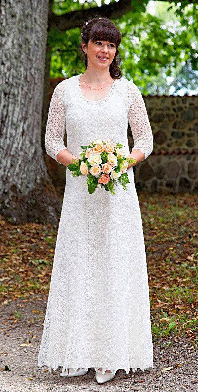 Hand gestrickte festlich / Hochzeit Kleid feine von ByRees auf Etsy, $1499.00