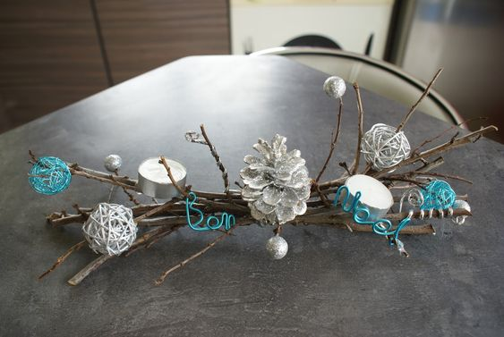 Centre de table de noel pas cher loisirs cr atifs for Art floral centre de table noel