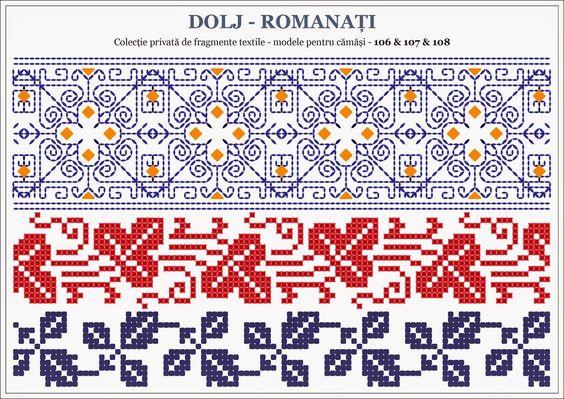 Semne cusute traditional romanian motifs oltenia dolj roman bookmark edging charts - Beautiful romanian folk motifs ...