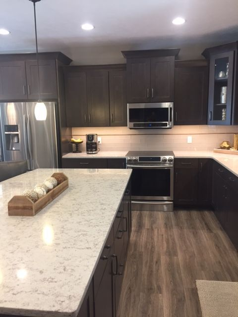 This Warm Diamond Kitchen Bath Remodel Was Completed By Lowe S