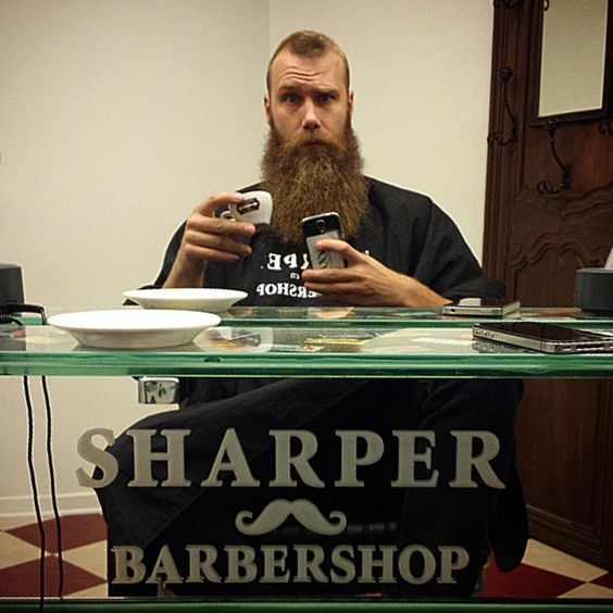 About to get ready for the beard competition tomorrow.  @enkarlmedskagg @sharperbarbershop  #enkalrmedskagg #skägg #barbershop #sharperbarbershop #beard #beards #Malmö