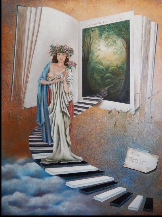 Celtic woman-2014 (Painting),  80x100 cm por Fatima Marques nome artista: Fatima Marques Título da obra: Celtic Woman Técnica: Acrílica e óleo s/ tela Dimensões : 100 x 80 x 5 cm Estilo: Figurativo Contemporâneo