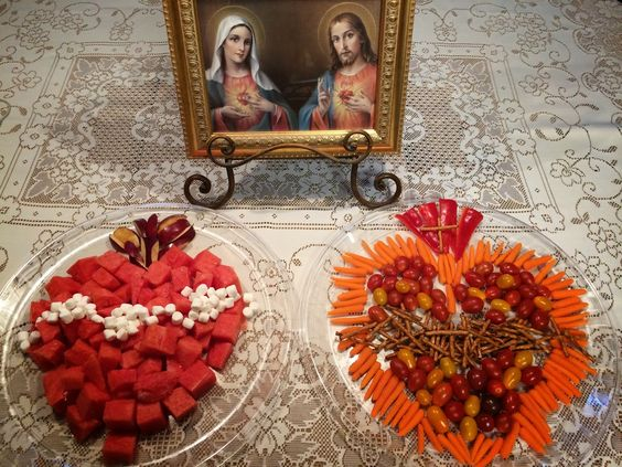 Catholic Cuisine: Sacred and Immaculate Heart Fruit and Veggie Platters
