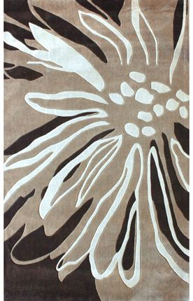 Radiante Floral Transition Brown rug from Rugs USA