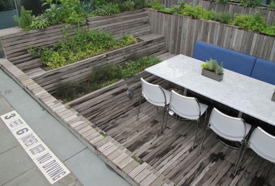 Wooden minimal terrace