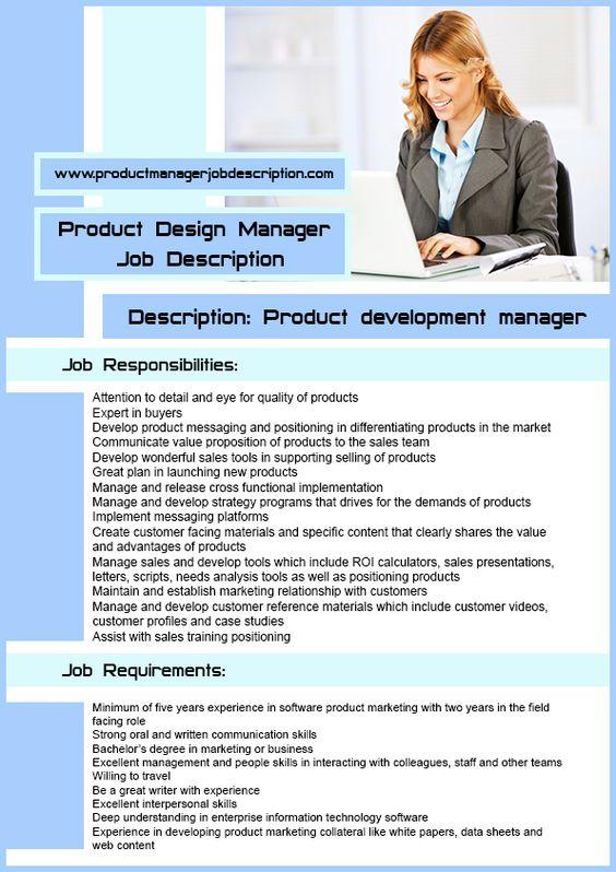 Product Marketing Manager Job Description  Cv    Job