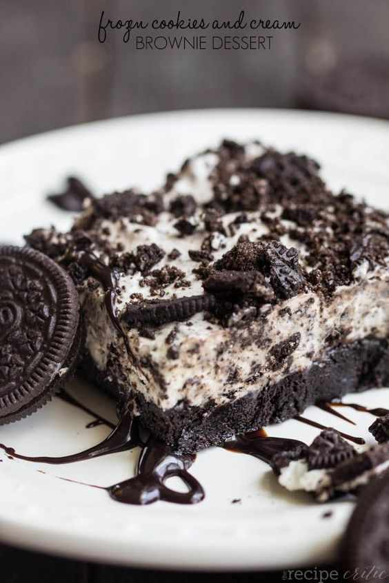 Frozen Cookies and Cream Brownie Dessert Recipe | The Recipe Critic