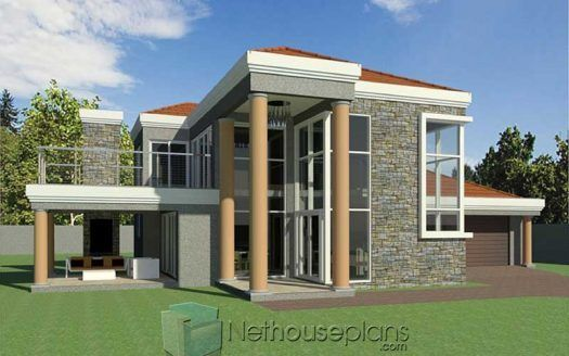 3 Bedroom Double Storey House Plan South Africa Nethouseplansnethouseplans In 2020 Tuscan House Plans House Plans South Africa Double Storey House